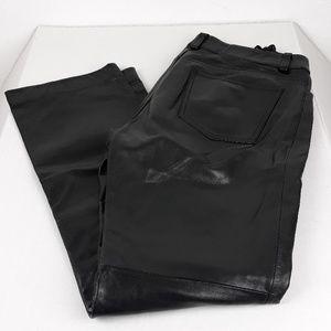 GAP Pants - GAP 100% LEATHER BOOTCUT PANTS